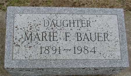 BAUER, MARIE F. - Woodbury County, Iowa | MARIE F. BAUER