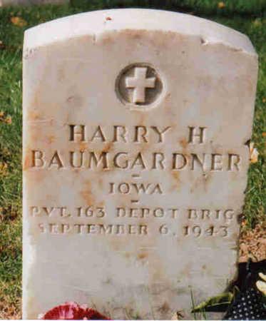 BAUMGARDNER, HARRY HARISON - Woodbury County, Iowa | HARRY HARISON BAUMGARDNER