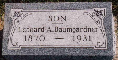 BAUMGARDNER, LEONARD A. - Woodbury County, Iowa | LEONARD A. BAUMGARDNER