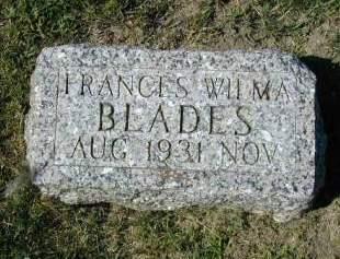BLADES, FRANCES WILMA - Woodbury County, Iowa | FRANCES WILMA BLADES