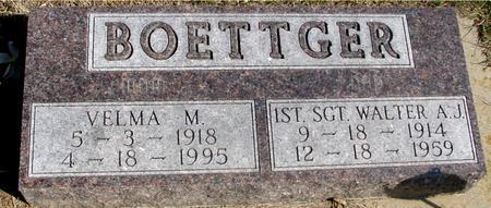 BOETTGER, WALTER & VELMA M. - Woodbury County, Iowa | WALTER & VELMA M. BOETTGER