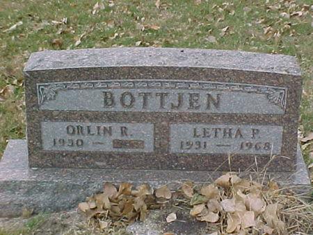 BOTTJEN, ORLIN R - Woodbury County, Iowa   ORLIN R BOTTJEN