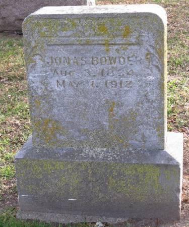 BOWDER, JONAS - Woodbury County, Iowa   JONAS BOWDER