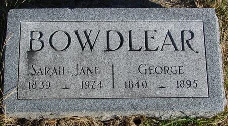 BOWDLEAR, GEORGE & SARAH - Woodbury County, Iowa | GEORGE & SARAH BOWDLEAR