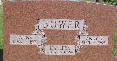 BOWER, ANDY J. & ANNA - Woodbury County, Iowa | ANDY J. & ANNA BOWER
