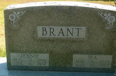 BRANT, IRA & JENNIE - Woodbury County, Iowa | IRA & JENNIE BRANT