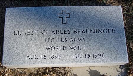 BRAUNINGER, ERNEST CHARLES - Woodbury County, Iowa | ERNEST CHARLES BRAUNINGER