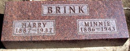 BRINK, HARRY & MINNIE - Woodbury County, Iowa   HARRY & MINNIE BRINK