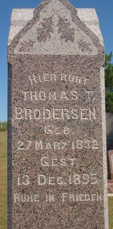 BRODERSEN, THOMAS T. - Woodbury County, Iowa   THOMAS T. BRODERSEN
