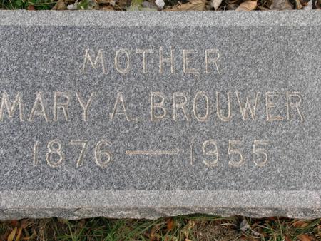 BROUWER, MARY A. - Woodbury County, Iowa   MARY A. BROUWER