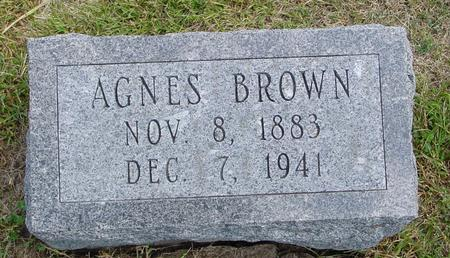 BROWN, AGNES - Woodbury County, Iowa | AGNES BROWN