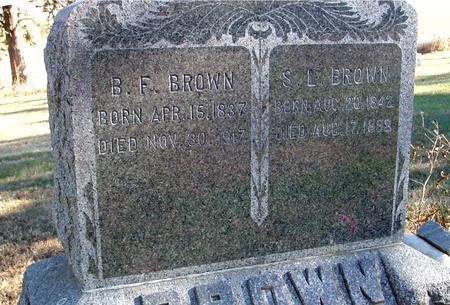 BROWN, B. F. & S. L. - Woodbury County, Iowa | B. F. & S. L. BROWN