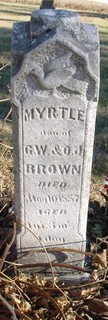BROWN, MYRTLE - Woodbury County, Iowa | MYRTLE BROWN