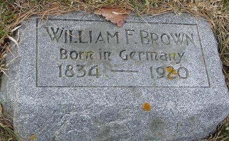 BROWN, WILLIAM F. - Woodbury County, Iowa | WILLIAM F. BROWN