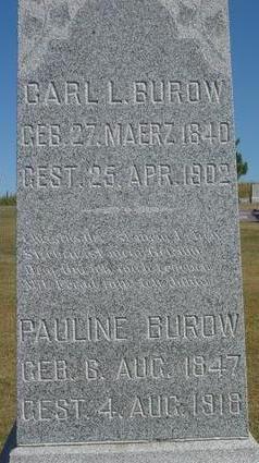 BUROW, CARL & PAULINE - Woodbury County, Iowa | CARL & PAULINE BUROW