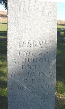 BUROW, MARY - Woodbury County, Iowa   MARY BUROW