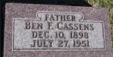 CASSENS, BEN F. - Woodbury County, Iowa | BEN F. CASSENS