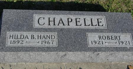 CHAPELLE, ROBERT & HILDA - Woodbury County, Iowa | ROBERT & HILDA CHAPELLE