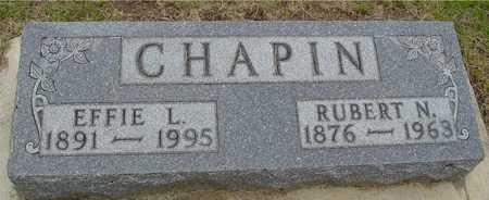 CHAPIN, RUBERT & EFFIE - Woodbury County, Iowa | RUBERT & EFFIE CHAPIN