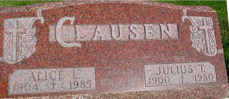 CLAUSEN, JULIUS & ALICE L. - Woodbury County, Iowa | JULIUS & ALICE L. CLAUSEN