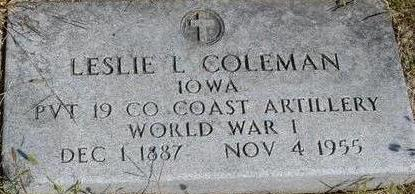COLEMAN, LESLIE L. - Woodbury County, Iowa | LESLIE L. COLEMAN