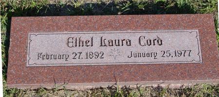 CORD, ETHEL LAURA - Woodbury County, Iowa   ETHEL LAURA CORD