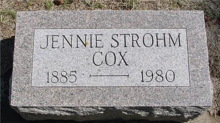 COX, JENNIE - Woodbury County, Iowa | JENNIE COX