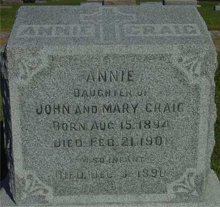 CRAIG, ANNIE - Woodbury County, Iowa | ANNIE CRAIG