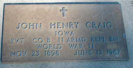 CRAIG, JOHN HENRY - Woodbury County, Iowa | JOHN HENRY CRAIG