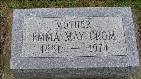 CROM, EMMA MAY - Woodbury County, Iowa   EMMA MAY CROM