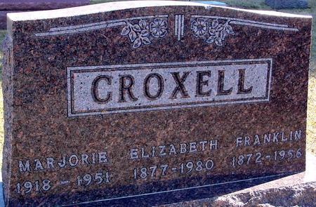 CROXELL, FRANK & ELIZABETH - Woodbury County, Iowa | FRANK & ELIZABETH CROXELL