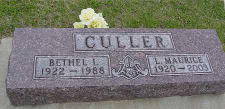 CULLER, L. MAURICE & BETHEL - Woodbury County, Iowa | L. MAURICE & BETHEL CULLER