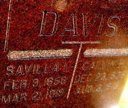 DAVIS, CALVIN & SAVILLA - Woodbury County, Iowa   CALVIN & SAVILLA DAVIS