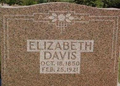 DAVIS, ELIZABETH - Woodbury County, Iowa | ELIZABETH DAVIS