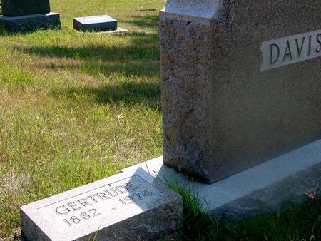 DAVIS, GERTRUDE - Woodbury County, Iowa   GERTRUDE DAVIS