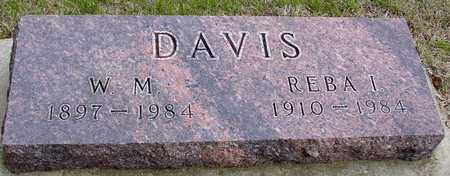 DAVIS, W. M. & REBA I. - Woodbury County, Iowa   W. M. & REBA I. DAVIS
