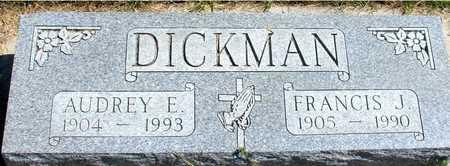 DICKMAN, FRANCIS & AUDREY - Woodbury County, Iowa   FRANCIS & AUDREY DICKMAN