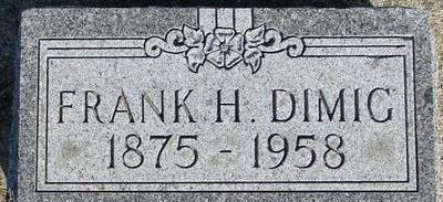 DIMIG, FRANK H. - Woodbury County, Iowa | FRANK H. DIMIG