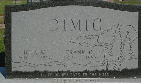 DIMIG, FRANK C. & IOLA W. - Woodbury County, Iowa   FRANK C. & IOLA W. DIMIG