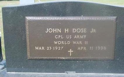DOSE, JOHN H.   JR. - Woodbury County, Iowa | JOHN H.   JR. DOSE