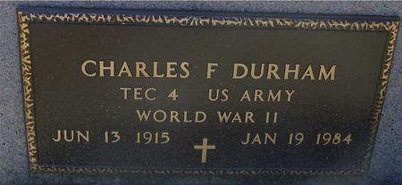 DURHAM, CHARLES F. - Woodbury County, Iowa   CHARLES F. DURHAM