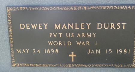 DURST, DEWEY MANLEY - Woodbury County, Iowa   DEWEY MANLEY DURST