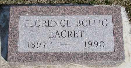 BOLLIG EACRET, FLORENCE - Woodbury County, Iowa | FLORENCE BOLLIG EACRET