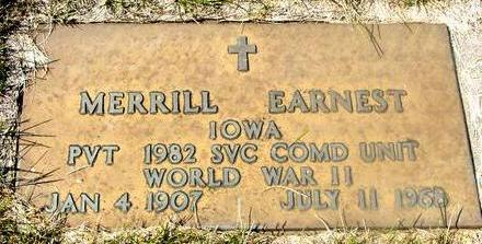 EARNEST, MERRILL - Woodbury County, Iowa | MERRILL EARNEST