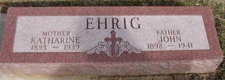 EHRIG, JOHN & KATHARINE - Woodbury County, Iowa   JOHN & KATHARINE EHRIG