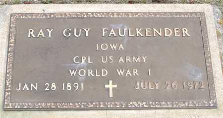 FAULKENDER, RAY GUY - Woodbury County, Iowa   RAY GUY FAULKENDER