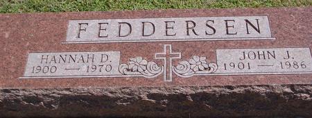 FEDDERSEN, JOHN & HANNAH - Woodbury County, Iowa | JOHN & HANNAH FEDDERSEN