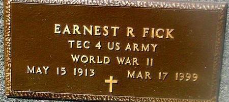 FICK, EARNEST R. - Woodbury County, Iowa   EARNEST R. FICK