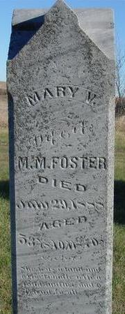 FOSTER, MARY M. - Woodbury County, Iowa | MARY M. FOSTER