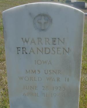 FRANDSEN, WARREN - Woodbury County, Iowa | WARREN FRANDSEN